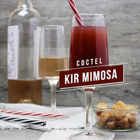 Coctel Kir Momosa. Receta de bebida en video