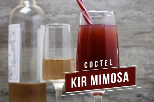 Coctel Kir Mimosa. Receta de bebida en video