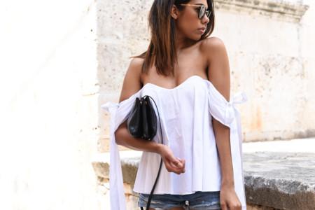 Theadorabletwo Dolce Und Gabbana Sonnenbrille Mister Spexx Off Shoulder Bluse Weiss Caroline Constas