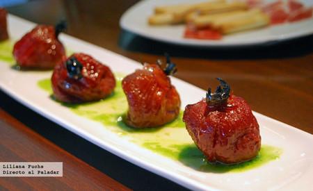 Restaurante Realcafé Bernabeu. Tomates caramelizados
