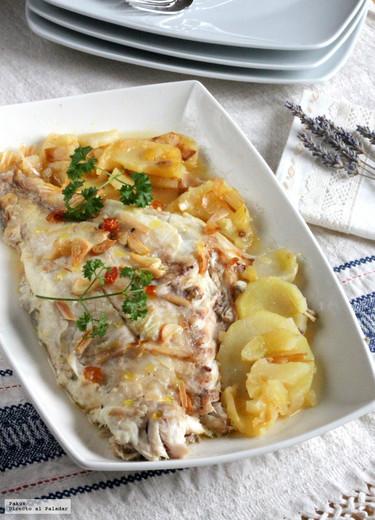 Pargo al horno con patatas coci-asadas, la receta de pescado para dejar a todos con la boca abierta