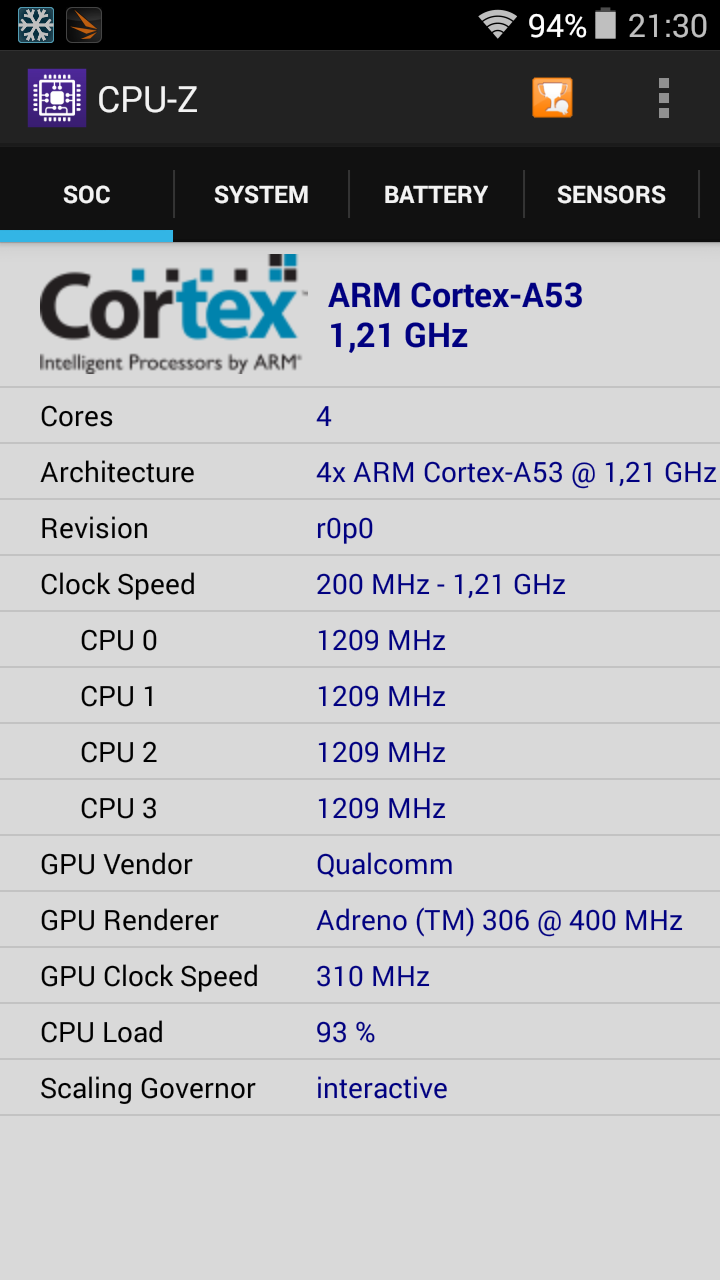 Benchmarks Aquaris E5 4G