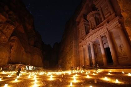 Análisis de una escena nocturna de Petra