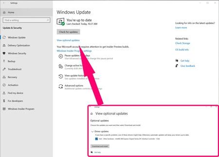 Windows 10 está ofreciendo instalar drivers que pueden causar problemas de estabilidad al sistema