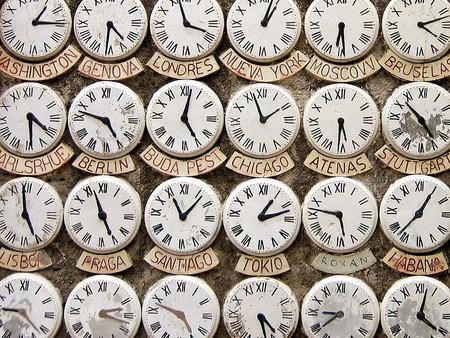 reloj cambio de hora