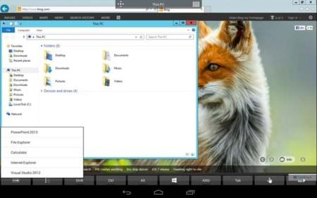 Trabajar con Android: conectar a escritorio remoto