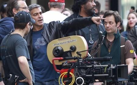 George Clooney durante el rodaje de su nuevo film