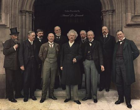 Mark Twain Visits The Houses Of Parliament In London 2nd Of July, 1907