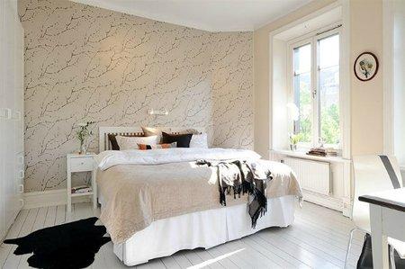 Un dormitorio nórdico de inspiración sueca