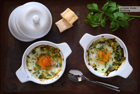 Huevos Al Horno Con Calabacin