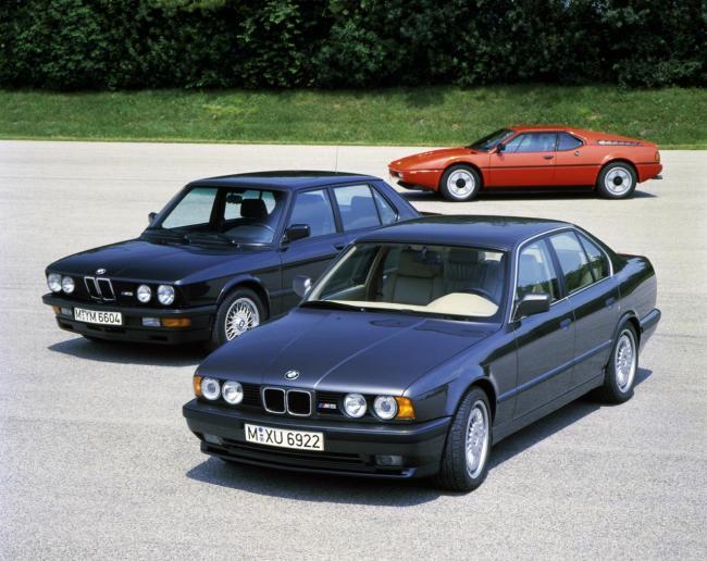 BMW M1, BMW M535i y  BMW M5