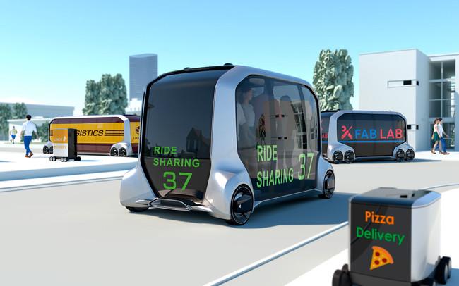 e-Palette de Toyota: el futuro era que un vehículo autónomo multiusos nos traiga la pizza a casa