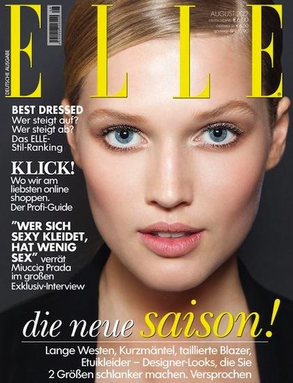 Naturalidad y toque masculino en la nueva portada de Elle Alemania