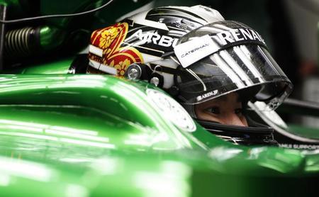 Kamui Kobayashi descontento con el Caterham TC05