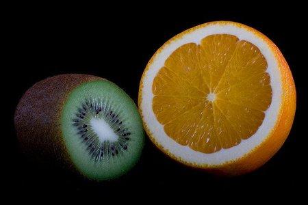 Desayuna naranja y kiwi, producirás más colágeno