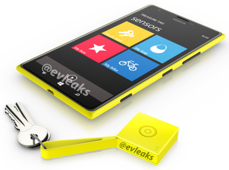Nokia Lumia 1520 acompañado del Treasure Tag