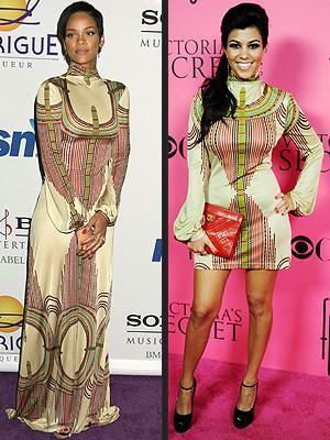 Vestido de Mara Hoffman: Rihanna contra Kourtney Kardashian