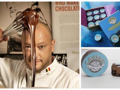 """La nueva """"locura"""" de Dominique Persoone, bombones rellenos de caviar"""