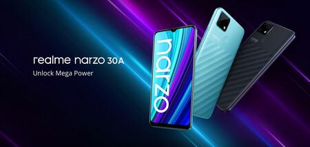 Realme Narzo 30A: cerebro MediaTek para un móvil muy básico con batería de 6.000 mAh