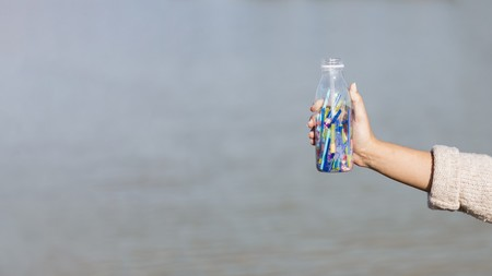 Popotes Algas Disuelven Constituyen Solucion Libre Plastico Mar