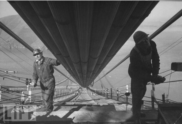 Foto de Construcción del Golden Gate, revista LIFE (8/11)