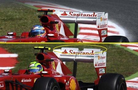La FIA aprobó el nuevo alerón trasero del Ferrari 150º Italia el jueves