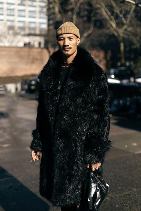 El Mejor Street Style De La Semana Trendencias Hombre Faux Fur Men Fall Winter 2019 07
