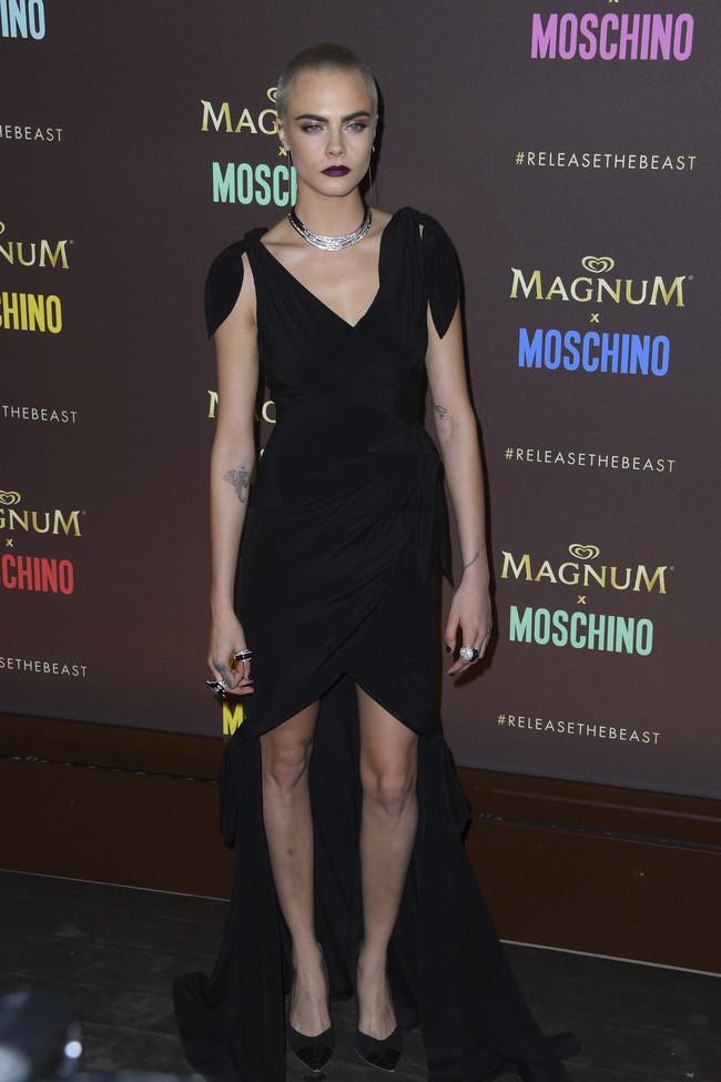 cara delevingne look estilismo outfit magnun moschino cannes