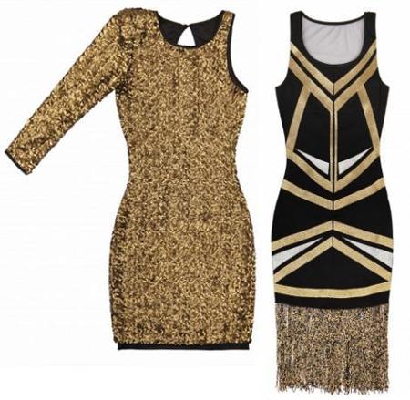 Looks para Nochevieja  vestidos dorados para brillar en Navidad af76efe70b0f