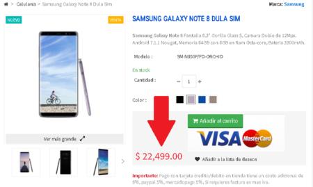 Samsung Galaxy Note 8 Precio Mexico 22 499 Pesos