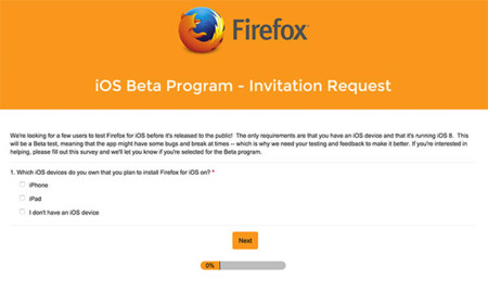 Ios Firefox Beta Program