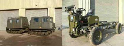 Vehículos del ejército inglés