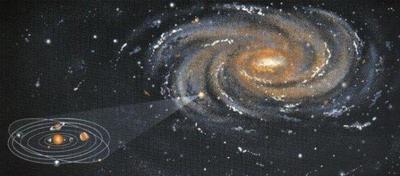 El impacto que dio forma a la Vía Láctea