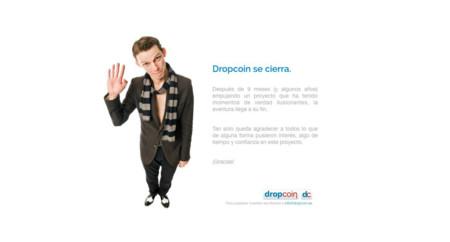 Cierra Dropcoin: adiós a su botón para realizar micropagos puntuales