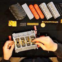 Este motor LS3 V8 a escala está hecho con impresora 3D, se monta como uno de verdad ¡y funciona!