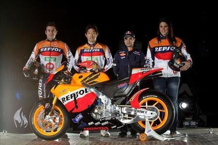 Presentado el equipo Repsol Honda MotoGP en Madrid