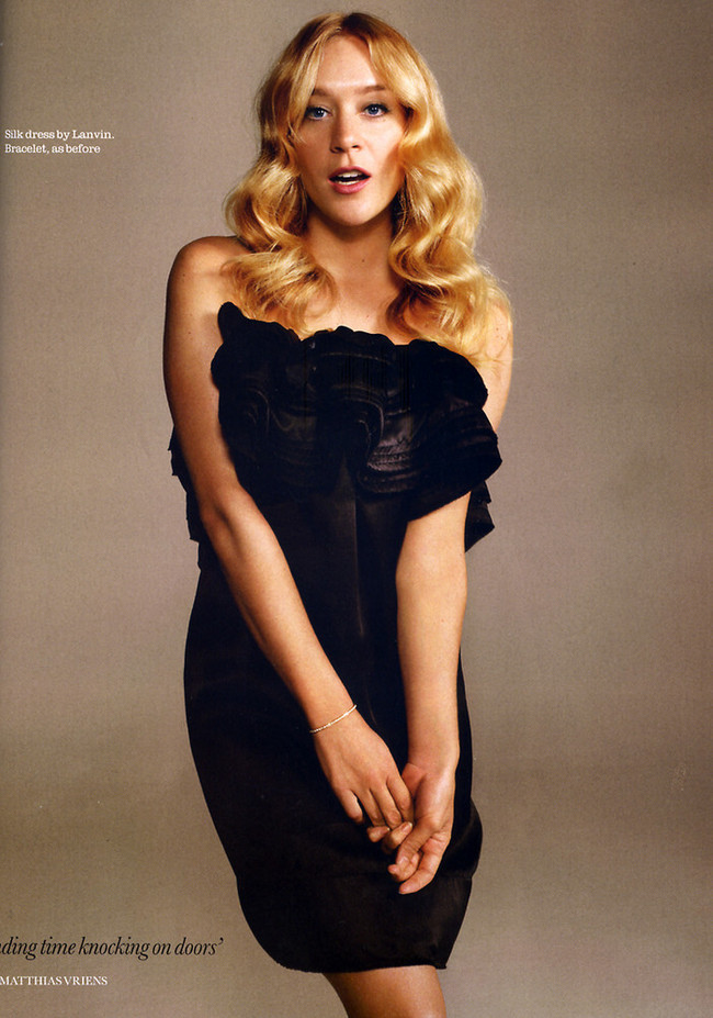 Foto de Chloë Sevigny en la revista Elle UK marzo 2008 (1/6)