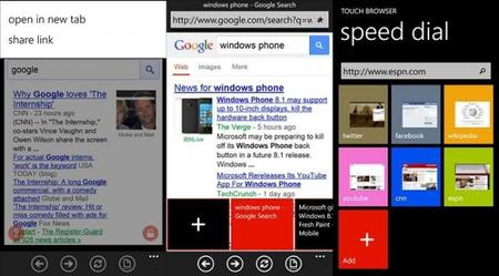 Touch Browser, otra buena opción para navegar en la web con Windows Phone 8