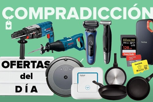 Ofertas del día y chollos en Amazon: herramientas Bosch, robots de limpieza Roomba, menaje WMF y San Ignacio o almacenamiento SanDisk a precios rebajados