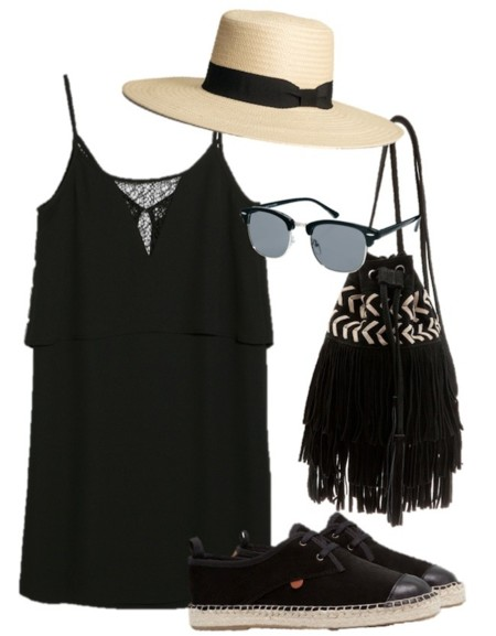 outfit festival negro
