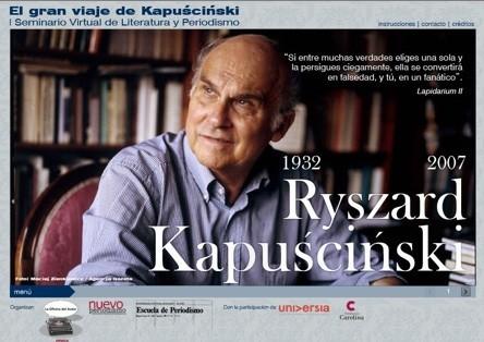 El gran viaje de Kapuscinski: Seminario Virtual de Literatura y Periodismo