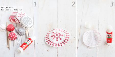 Cómo hacer arbolitos de Navidad con cápsulas de papel paso a paso