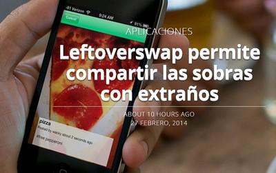 Leftoverswap, para compartir sobras con extraños