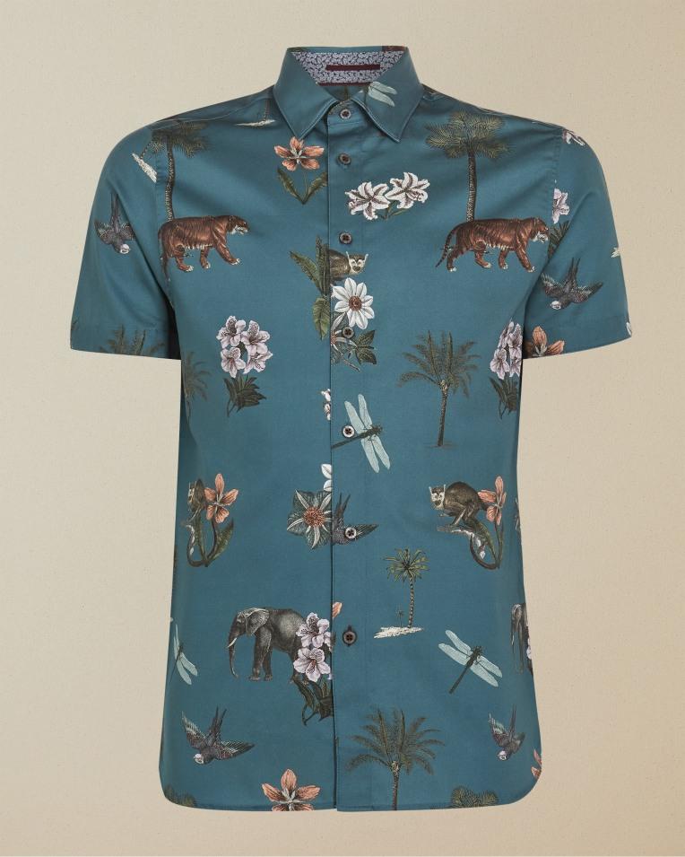 Camisa manga corta modelo Groupo color azul