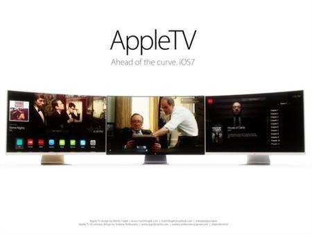 ¿Os gustaría un televisor de Apple con pantalla curva? Un usuario la imagina