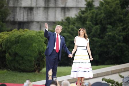 Melania Trump celebra el día de la Independencia de los Estados Unidos con un vestido de casi 3.000 euros