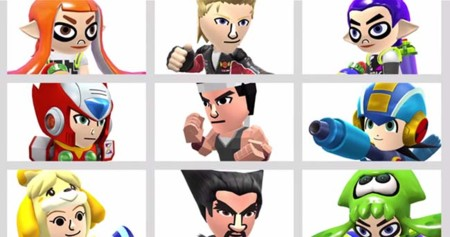 Trajes de MegaMan, Animal Crossing, Splatoon, Virtua Fighter y Tekken para los Mii Fighters