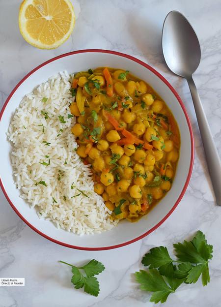 Curry De Garbanzos Con Mango Receta De Cocina F Cil