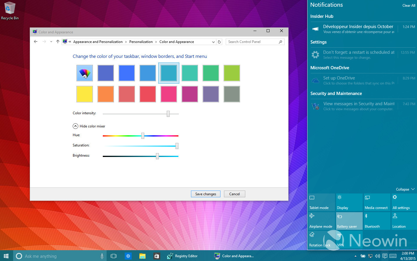 Foto de Temas de colores en Windows 10 build 10056 (4/16)