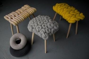Taburetes de lana
